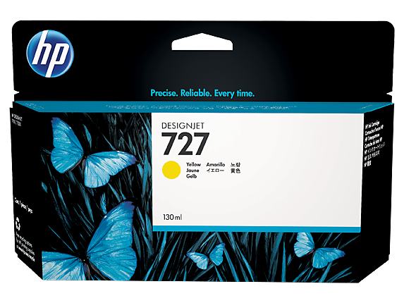 HP Ink No.727 Yellow (B3P21A)